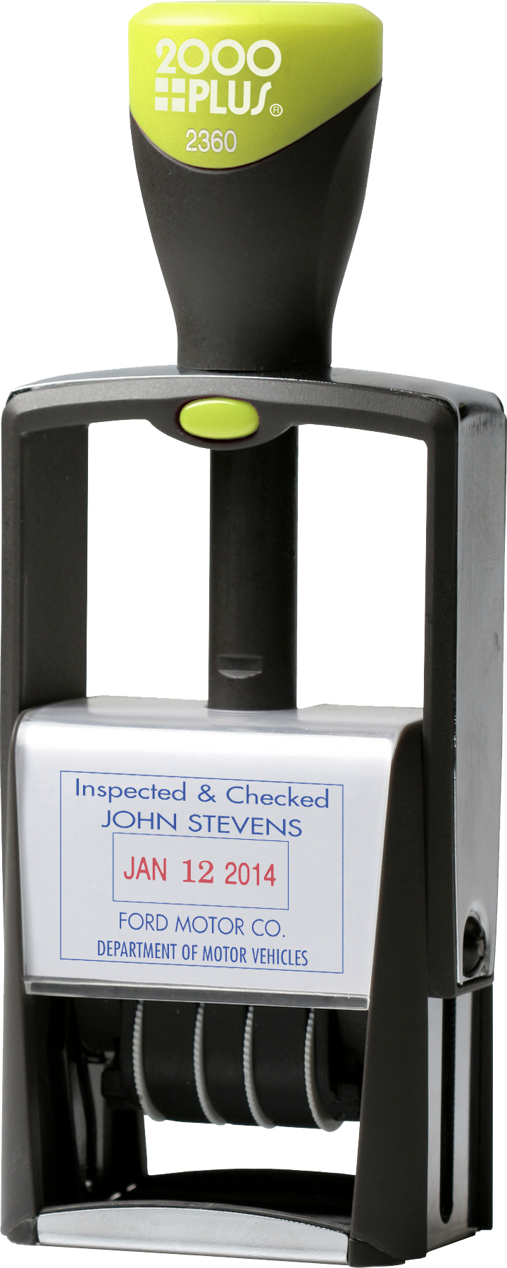 2000 Plus 2360 heavy duty dual-pad date stamp. Customizable at Quality Rubber Stamp!