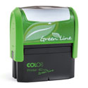 2000 plus Printer 40 Green Line - Standard Self-Inking Rubber Stamp Made Of 80% Post Consumer Recycled Materials!
