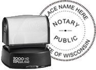 HDR40-NP - Official Notary Seal - Pre-Inked Stamp (ALL 50 STATES)