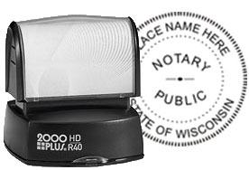 Official Notary Seal - Pre-Inked Stamp (ALL 50 STATES)