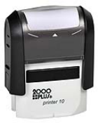2000 Plus Printer 10, Small Self-Inking rubber stamp 3/8in. by 1-1/16in.  Custom Self-Inking Rubber Stamps, Since 1963 making a Great Impression for you.