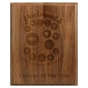 PLAQUE-GENUINE WALNUT-ENGRAVED INTO WOOD - PLQ Genuine Walnut-Engraved Into Wood 8 x 10